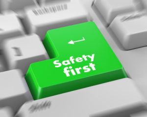 44075850 - safety first concept with red key on computer keyboard